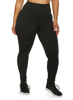 Plus Size Seamless Knit Leggings - 1969062906001