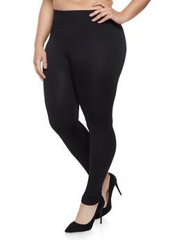 Plus Size Fleece Lined Leggings | 1969062908066 - 1969062908066