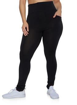 Plus Size One Pocket Leggings - 1969062908533