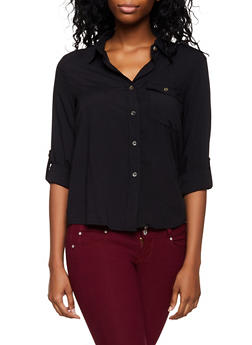 Single Pocket Button Front Shirt - 3001051060255