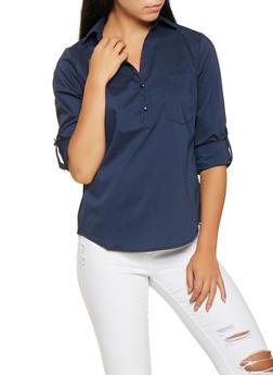 Tabbed Sleeve Shirt - 3001051060366