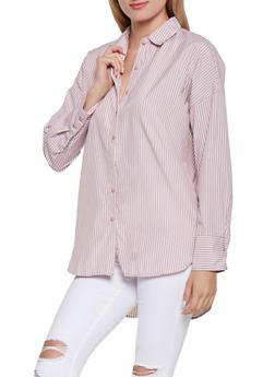 Button Front Shirt - 3001051060367