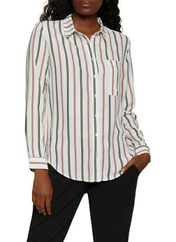 Striped Long Sleeve Shirt | 3001054261688 - 3001054261688