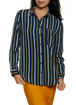 Striped Long Sleeve Shirt | 3001054261688 - 3001054261688