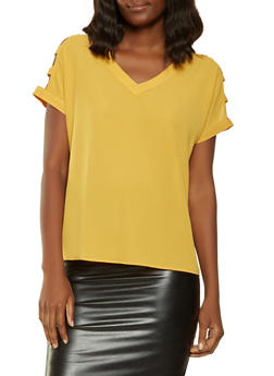 Caged Sleeve Top - 3001058750286