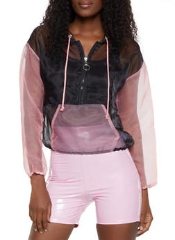 Two Tone Organza Windbreaker - 3001058751845
