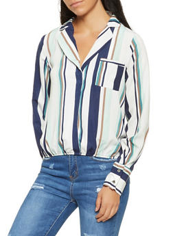 Striped High Low Top - 3001074292097