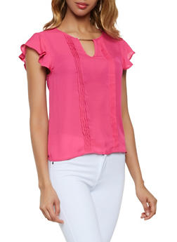 Plus Size Womens Pink Blouses
