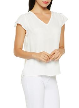 Flutter Sleeve Blouse - 3001074293105