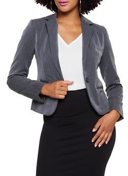 Long Sleeve Collared Blazer - 3003054265769