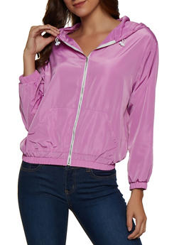 Hooded Zip Windbreaker - 3003074294641