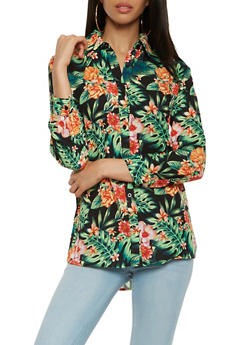 Tropical Print Shirt - 3005074290330