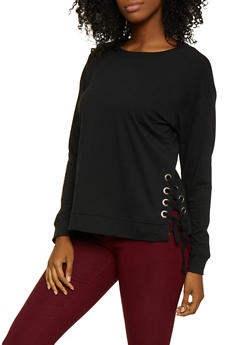 Lace Up Sweatshirt - 3012054260556