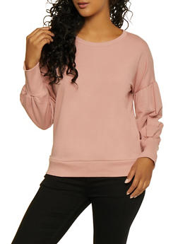 Bubble Sleeve Sweatshirt - 3012054260597