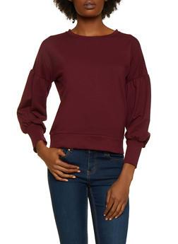 Bubble Sleeve Sweatshirt - 3012054260597