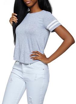 Varsity Stripe Sleeve Tee - 3012054265879
