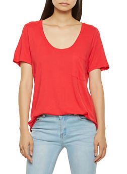 Solid One Pocket Tee - 3012054269411