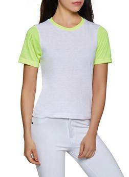 Neon Color Block Tee - 3013033872551