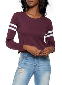 Varsity Stripe Long Sleeve Tee - 3014033871111