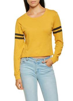 Varsity Stripe Long Sleeve Tee - 3014033871111