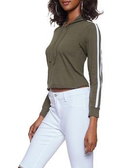 Varsity Stripe Hooded Top - 3014033872111