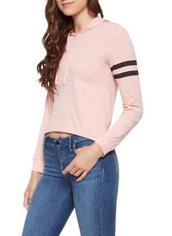 Varsity Stripe Hooded Top - 3014033874111