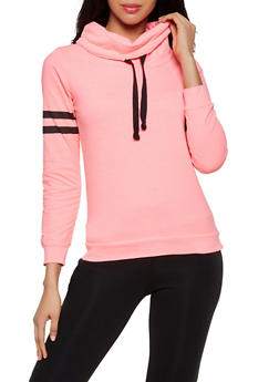 Varsity Stripe Funnel Neck Sweatshirt - 3014033876222
