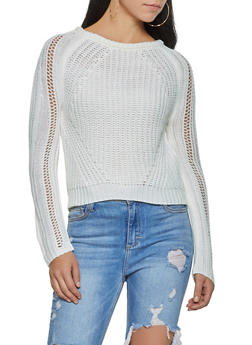 Solid Long Sleeve Sweater - 3020015050019