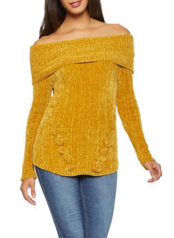 Off the Shoulder Sweater - 3020015050032