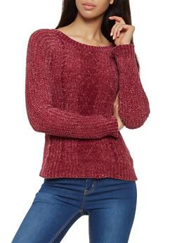 Crew Neck Chenille Sweater - 3020015050041