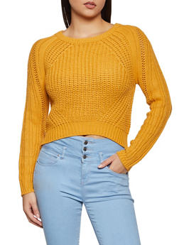 Cropped Hem Sweater - 3020015051023