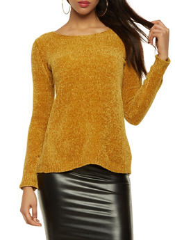 Lace Up Back Sweater - 3020015051034