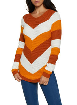 Chevron Knit Sweater - 3020015052005