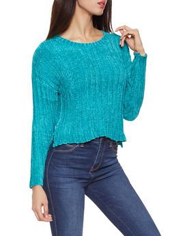 Crew Neck Chenille Sweater - 3020034280931