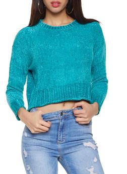 Crew Neck Chenille Sweater - 3020034281042