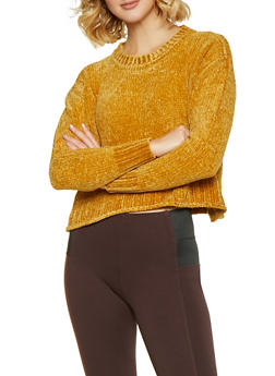 Crew Neck Chenille Sweater - 3020034281042