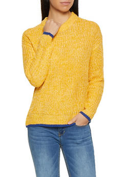 Contrast Trim Sweater - 3020034281116