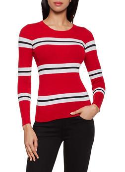 Striped Crew Neck Sweater | 3020034281849 - 3020034281849
