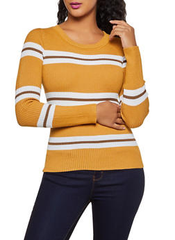Striped Crew Neck Sweater | 3020034281849 - 3020034281849