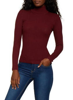 Ribbed Mock Neck Sweater | 3020038346427 - 3020038346427