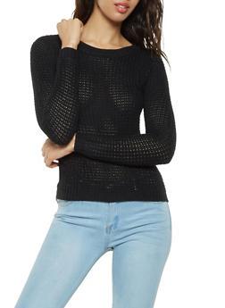 High Low Crew Neck Sweater - 3020038348102