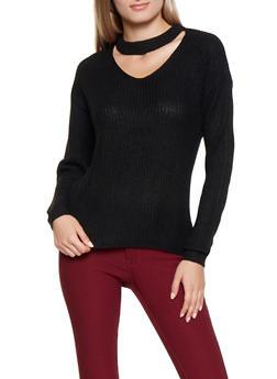 Choker Neck Sweater - 3020038348113