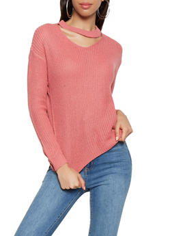 Choker Neck Sweater - 3020038348113