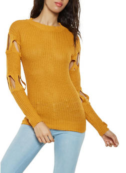 Caged Sleeve Sweater - 3020038348123