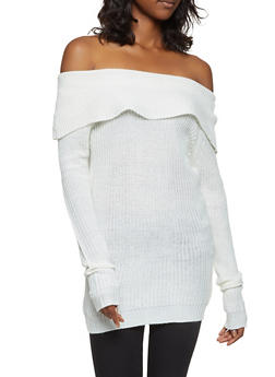 Off the Shoulder Sweater - 3020038348144