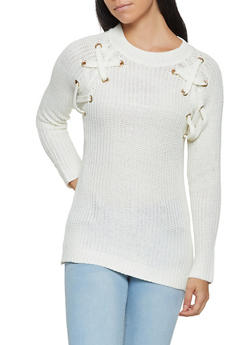 Lace Up Sweater - 3020038348148