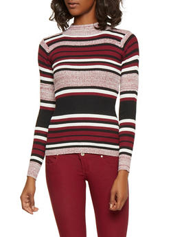 Marled Stripe Sweater - 3020038348426