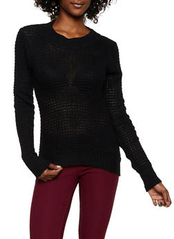 Solid Knit Sweater - 3020038349101