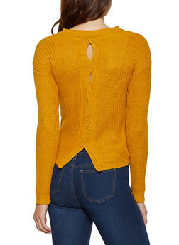 Woven Back Sweater - 3020038349114