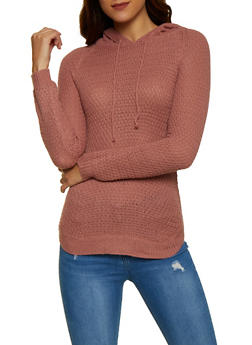 Hooded Tunic Sweater - 3020038349119